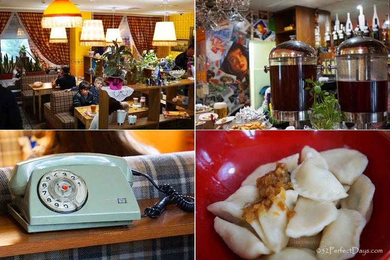 Varenichnaya Katyusha restaurant in Kiev, Ukraine