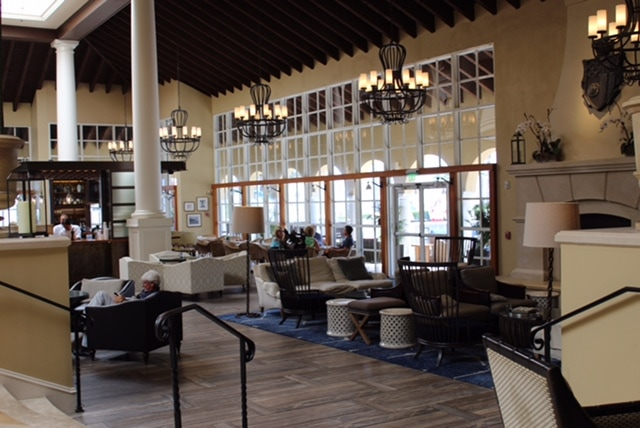 St. Simons Island, Georgia: The King and Prince Resort. The bar and lounge area of the resort