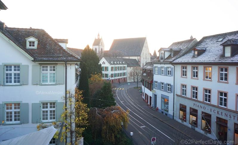 View from Der Teufelhof Basel hotel room