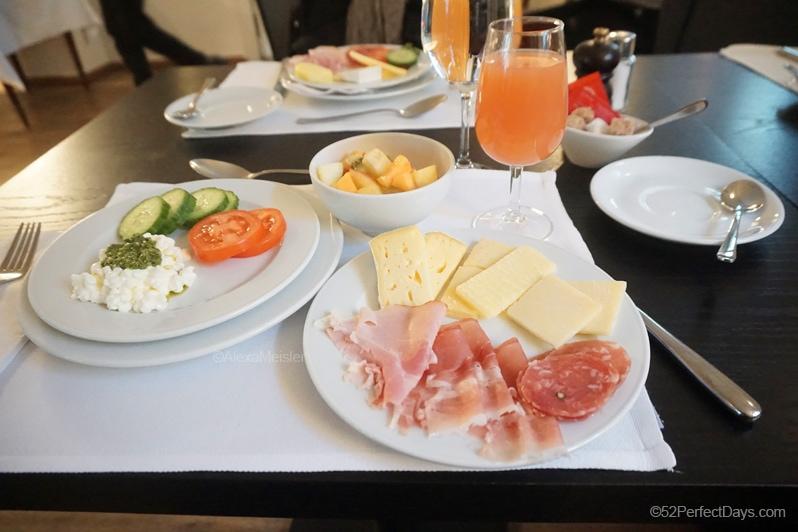 Der Teufelhof Basel breakfast