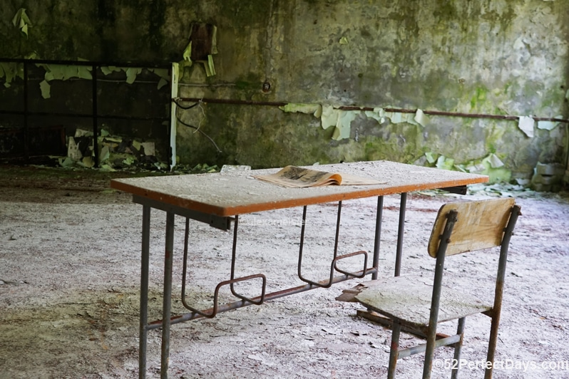 Chernobyl exclusion zone school
