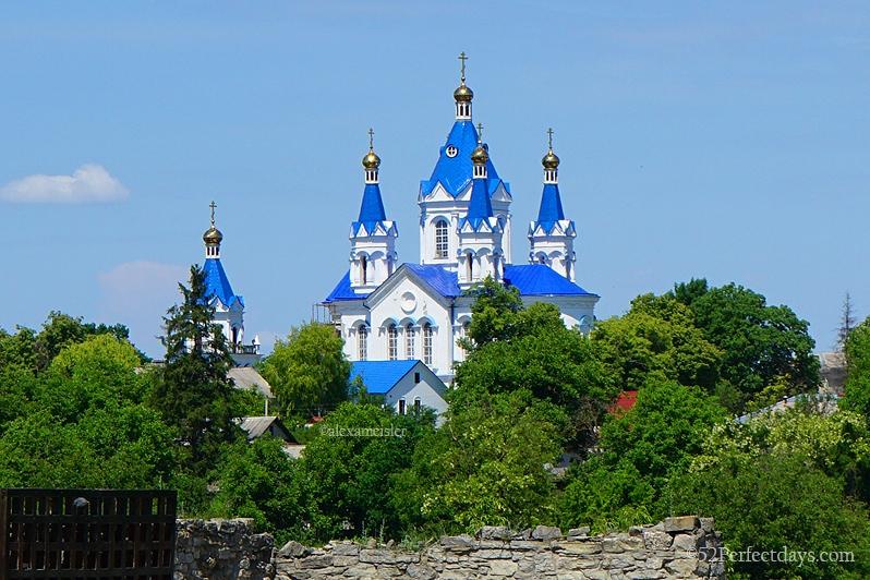 gold domed church in Ukraine
