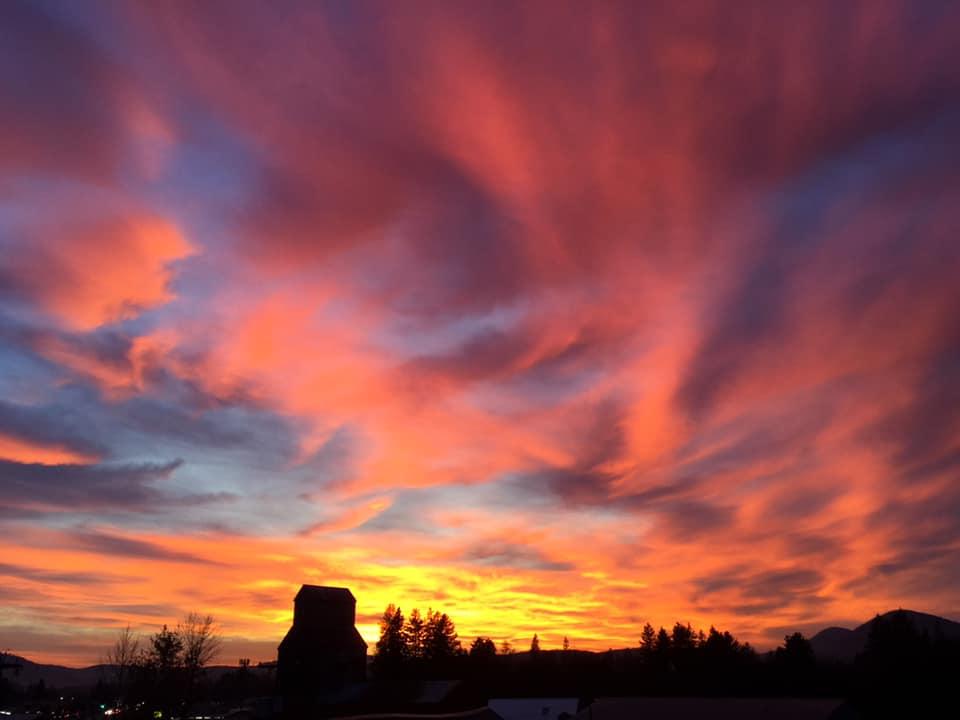 sunset in Sandpoint, Idaho