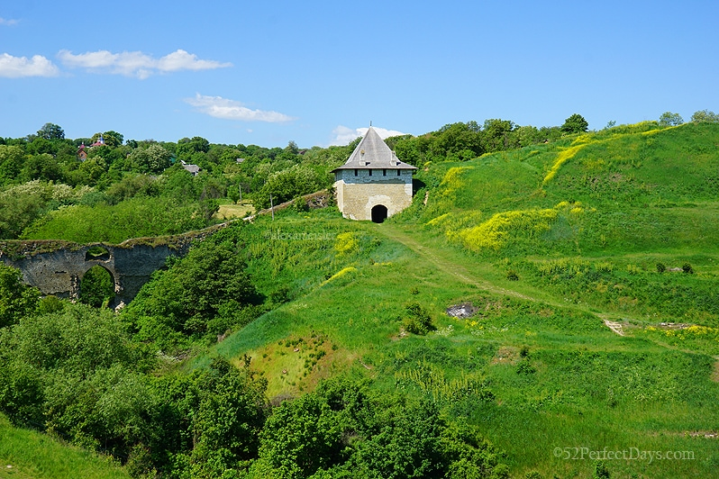 Green countryside in Ukraine