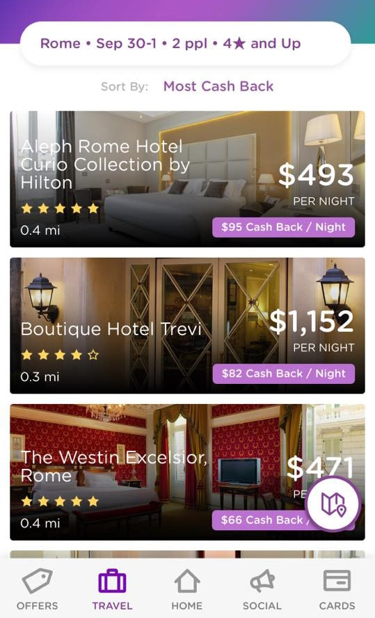 Dosh app hotel booking