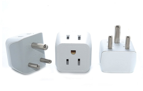 Ceptics USA to India Travel Adapter Plug
