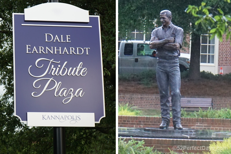 Dale Earnhardt statue in Kannapolis, North Carolina