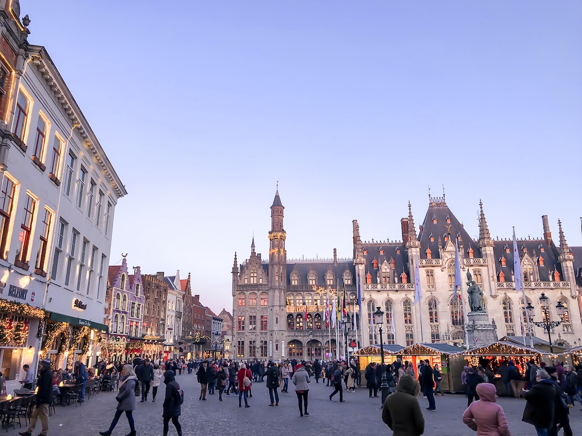 Christmas market in Bruges