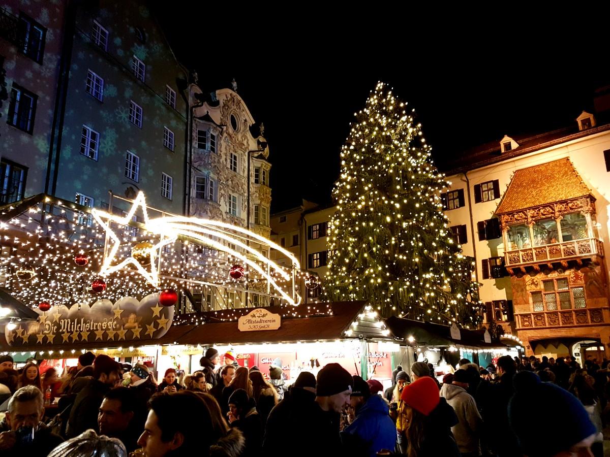 Innsbruck old town Christmas market