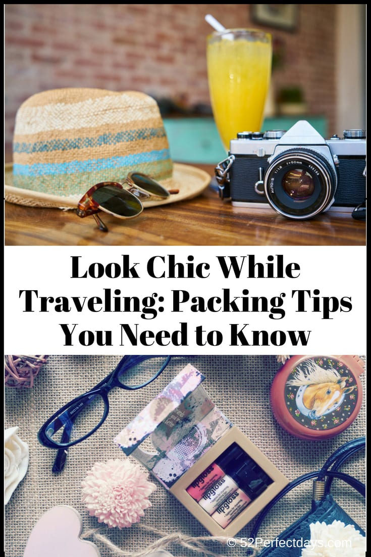 Tips to pack the right items that will make you look stylish and at the same time offer maximum functionality. It doesn't take much time to plan so you look chic while traveling. #traveltips #packingtips #lookchic