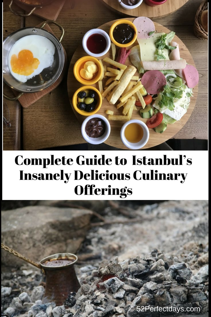 The Complete Guide To a Full Day of Istanbul's Insanely Delicious Culinary Offerings including Istanbul Restaurants, Street Food & Turkish Coffee. #istanbul #turkey #food #travel