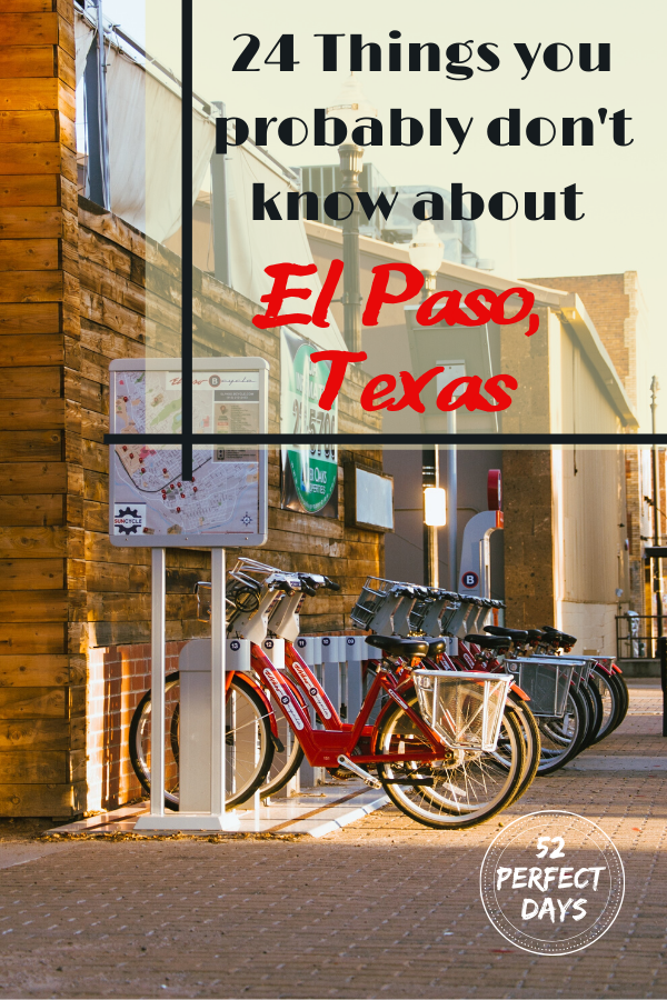 Fun Facts about El Paso, Texas. If you are going to visit El Paso, learn some fun facts about this Texas city. El Paso, Texas borders Juarez, Mexico and has a lot of unusual history and facts. Texas city. Texas Town. Facts about Texas. Weird Texas facts. Weird facts about El Paso.