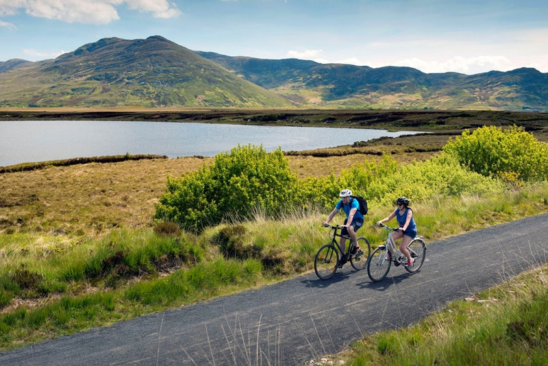 Biking in Westport, Ireland