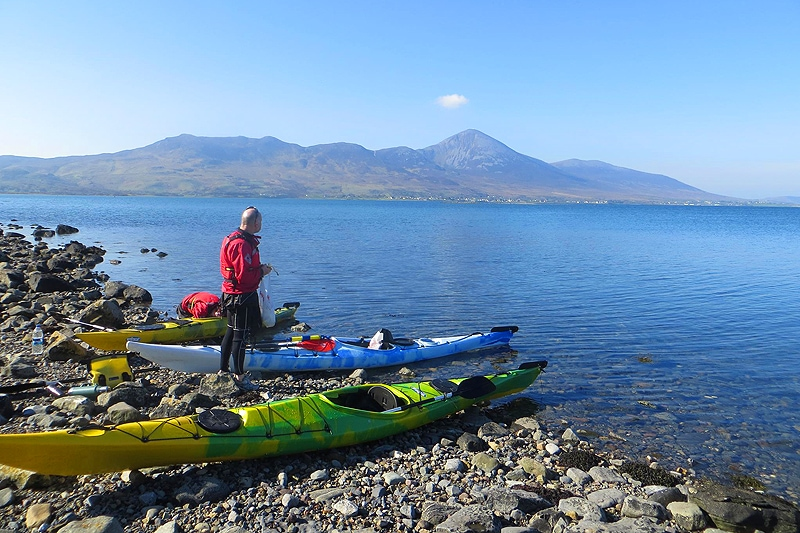 Kayak on Clew Bay in Westport, Ireland