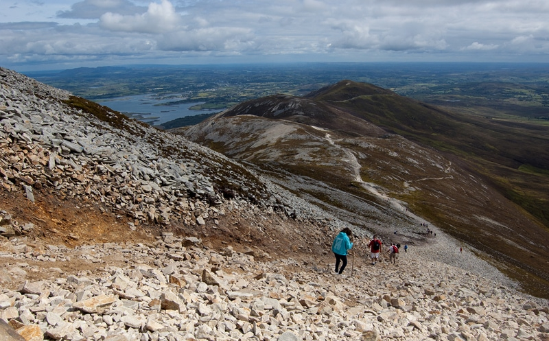 Croagh Patrick in Westport, Ireland