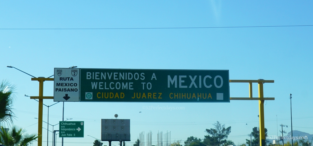 Crossing border in Juarez, Mexico