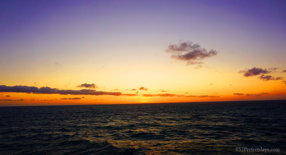 Sunset from Carnival Cruise