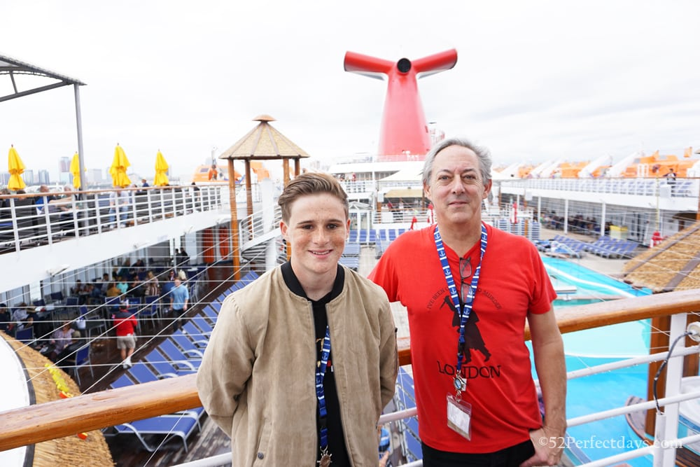 Teenagers on Carnival Cruises