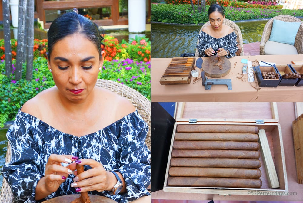 Cigar making at Casa Velas