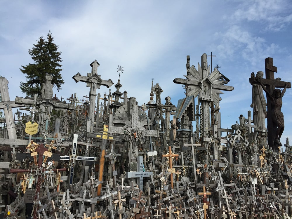 Hill of Crosses is located in Northern Lithuania