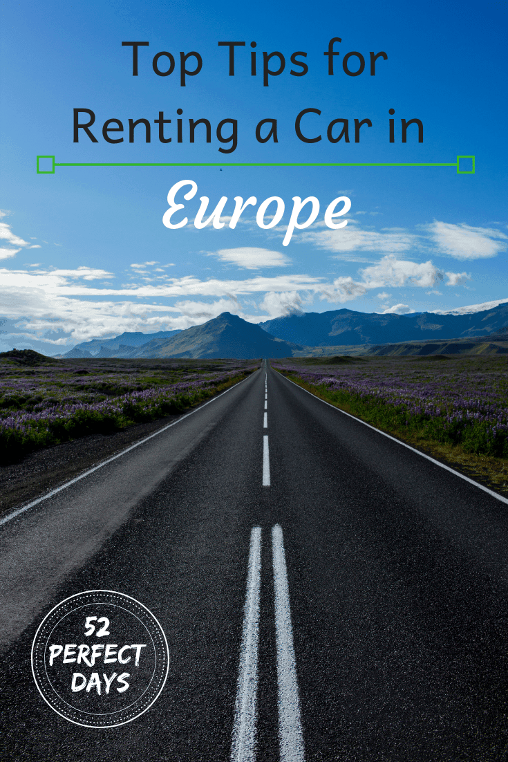 Best tips for renting a car in Europe! Take the stress out of Renting a Car in Europe by knowing all the rules and tips for driving in a foreign country. #travel #europe #carrental