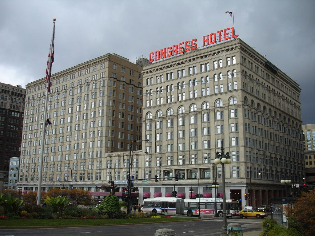 haunted congress hotel in Chicago