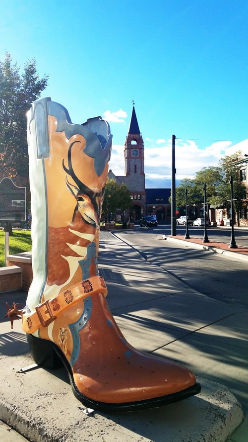 Cheyenne is dotted with big boot sculptures and murals.