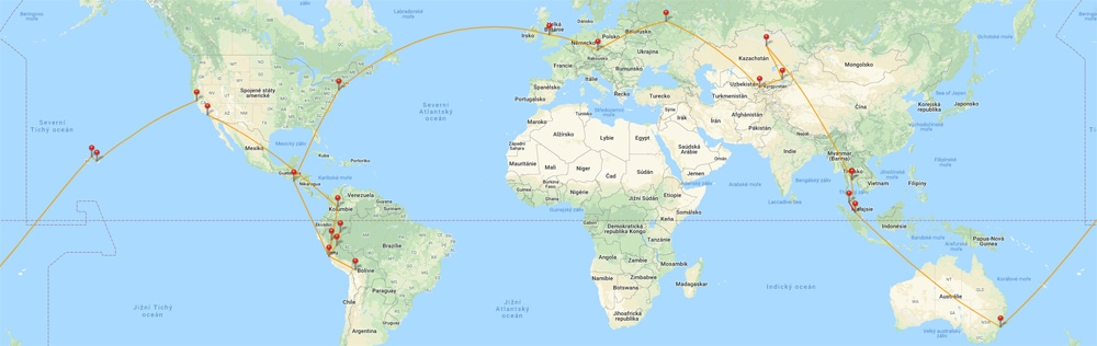 RTW map