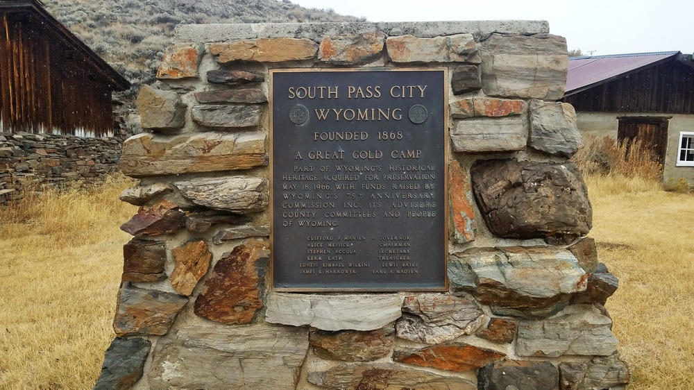 The official South Pass marker along the Wyoming Suffragette Path