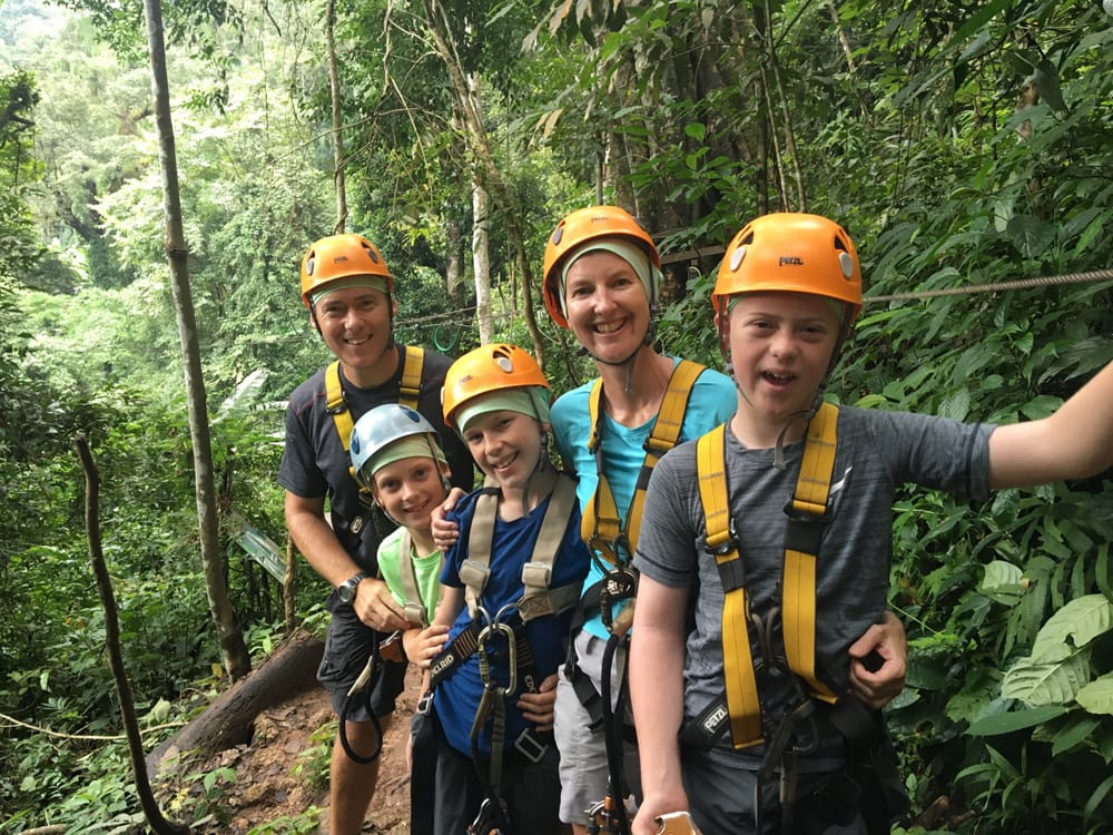 zip-lining at Flight of the Gibbon in Chiang Mai