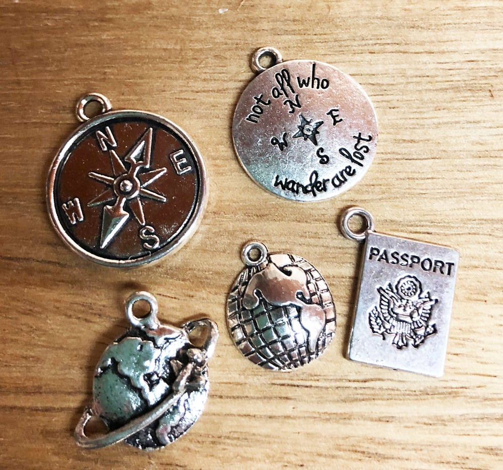 travel bracelet charms