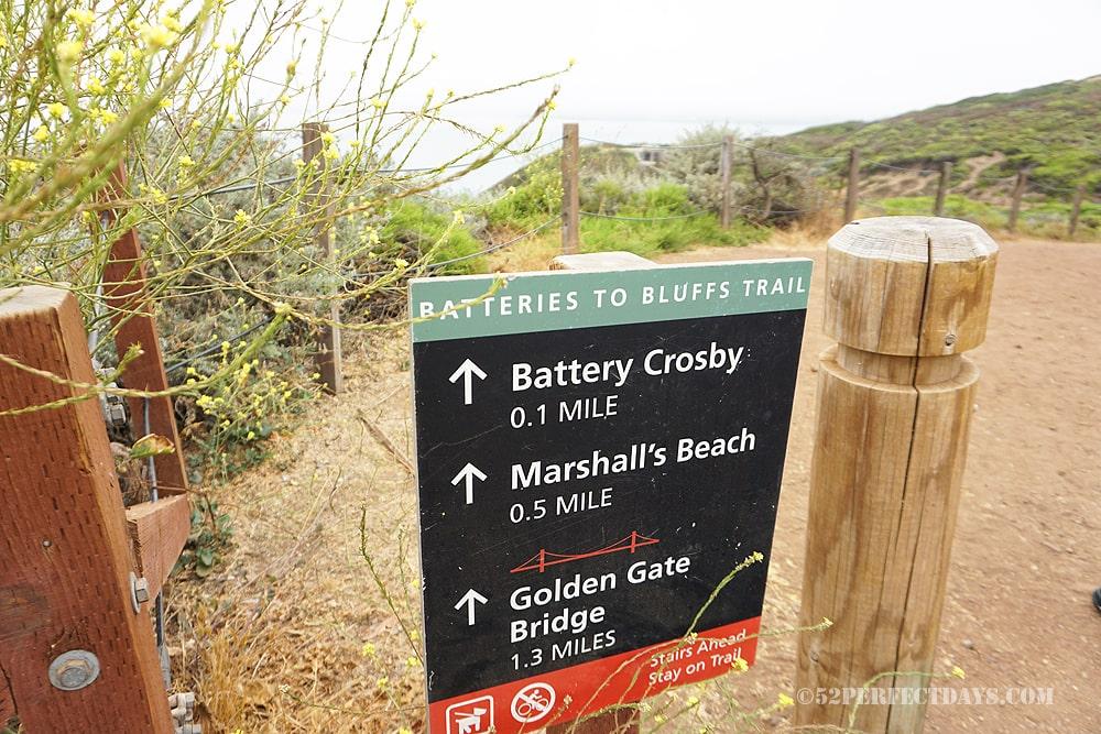 Bluff trail in Presidio, San Francisco