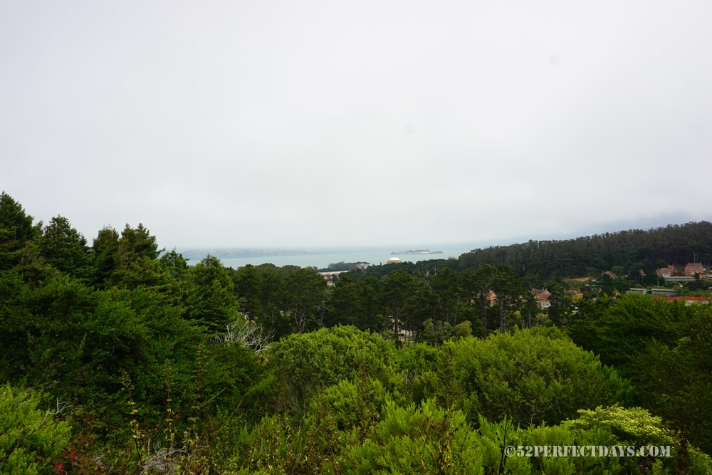 Inspiration Point view in the Presidio, San Francisco