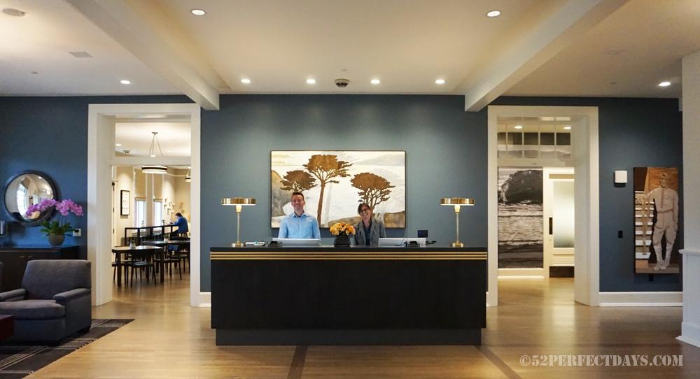 Lobby at The Lodge at the Presidio in San Francisco