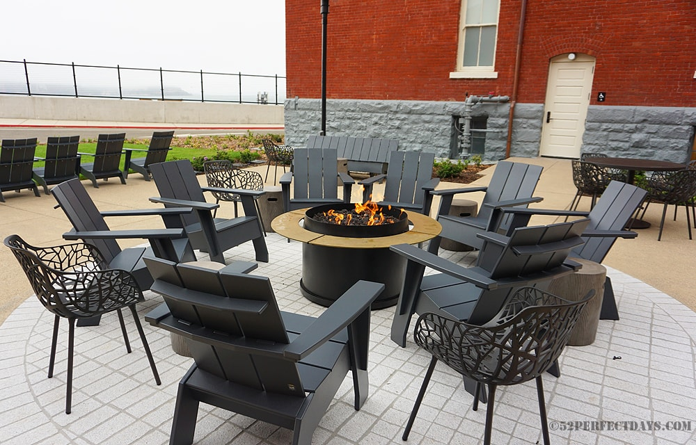 Outdoor fire pit at the Lodge at Presidio