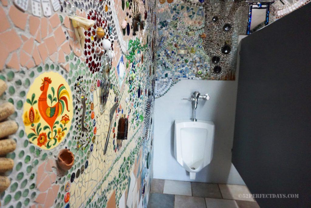 Mens urinal at Bowl Plaza in Lucas, KS