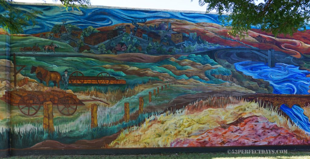 Czech mural in Lucas, KS