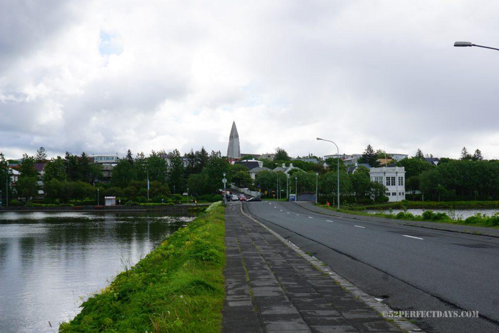 downtown Reykjavik roads