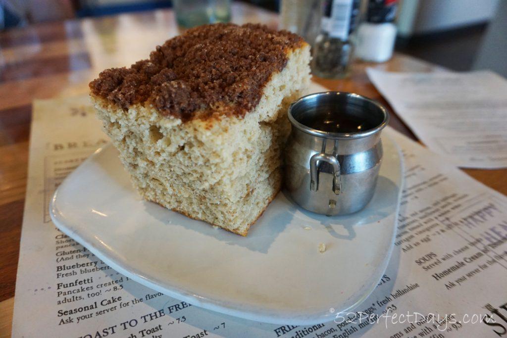 Coffee Cake at Homegrown Restaurant Wichita, Kansas