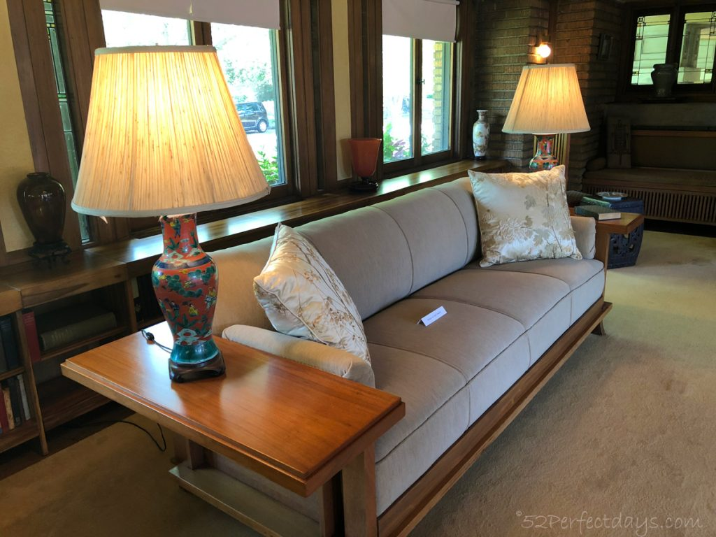 Frank Lloyd Wright House sofa