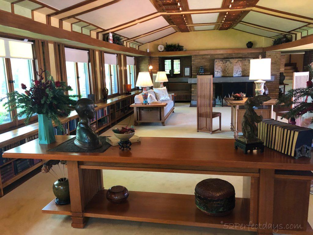 Frank Lloyd Wright House Wichita Living Room