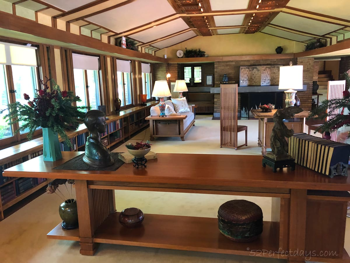 Frank Lloyd Wright House Wichita Living Room