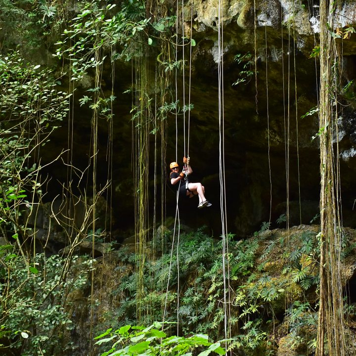 rappelling with AllTourNative in Cancun