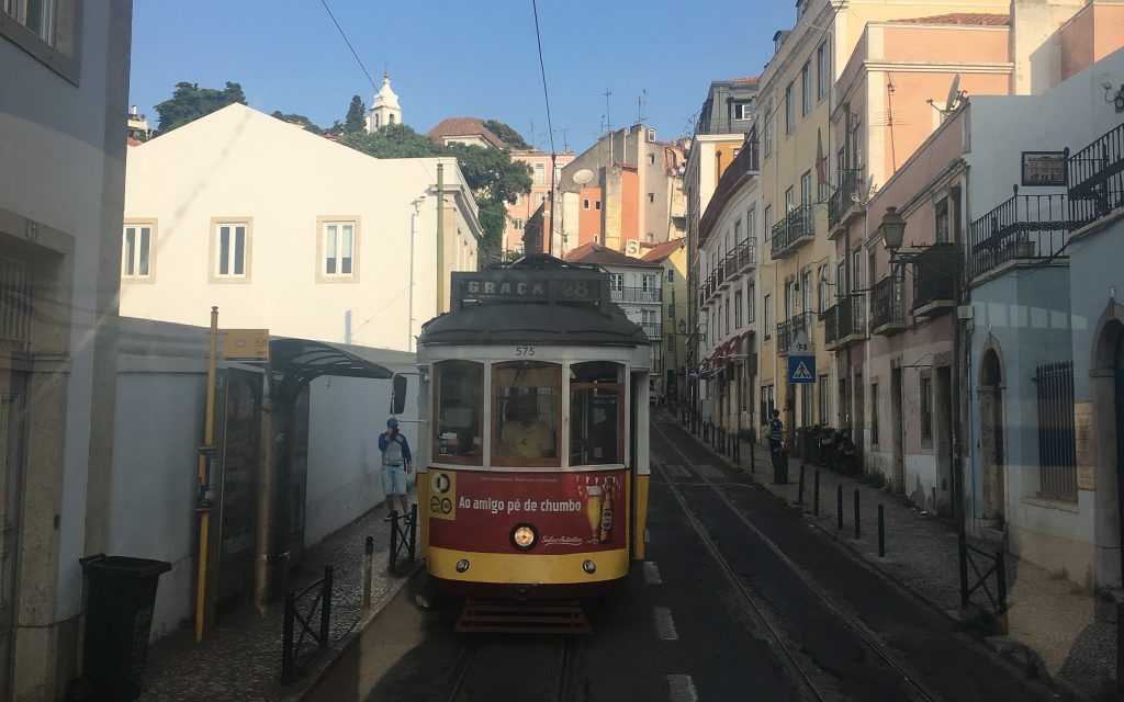 Tram no 28 in Lisbon, Portugal