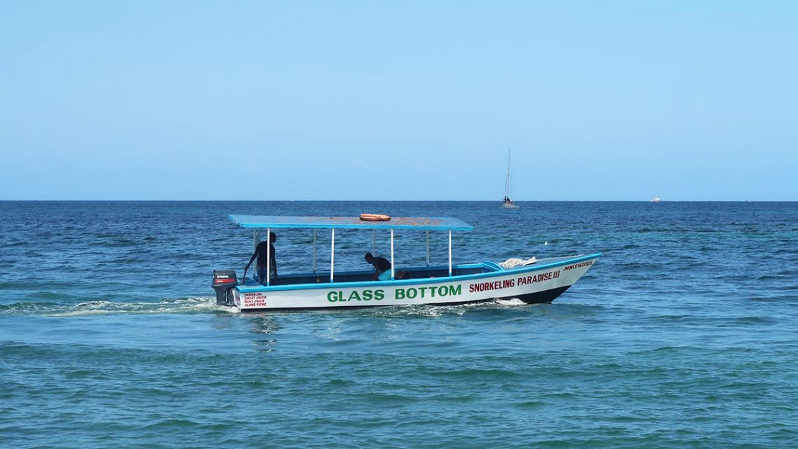Jamaica glass bottom boat tour