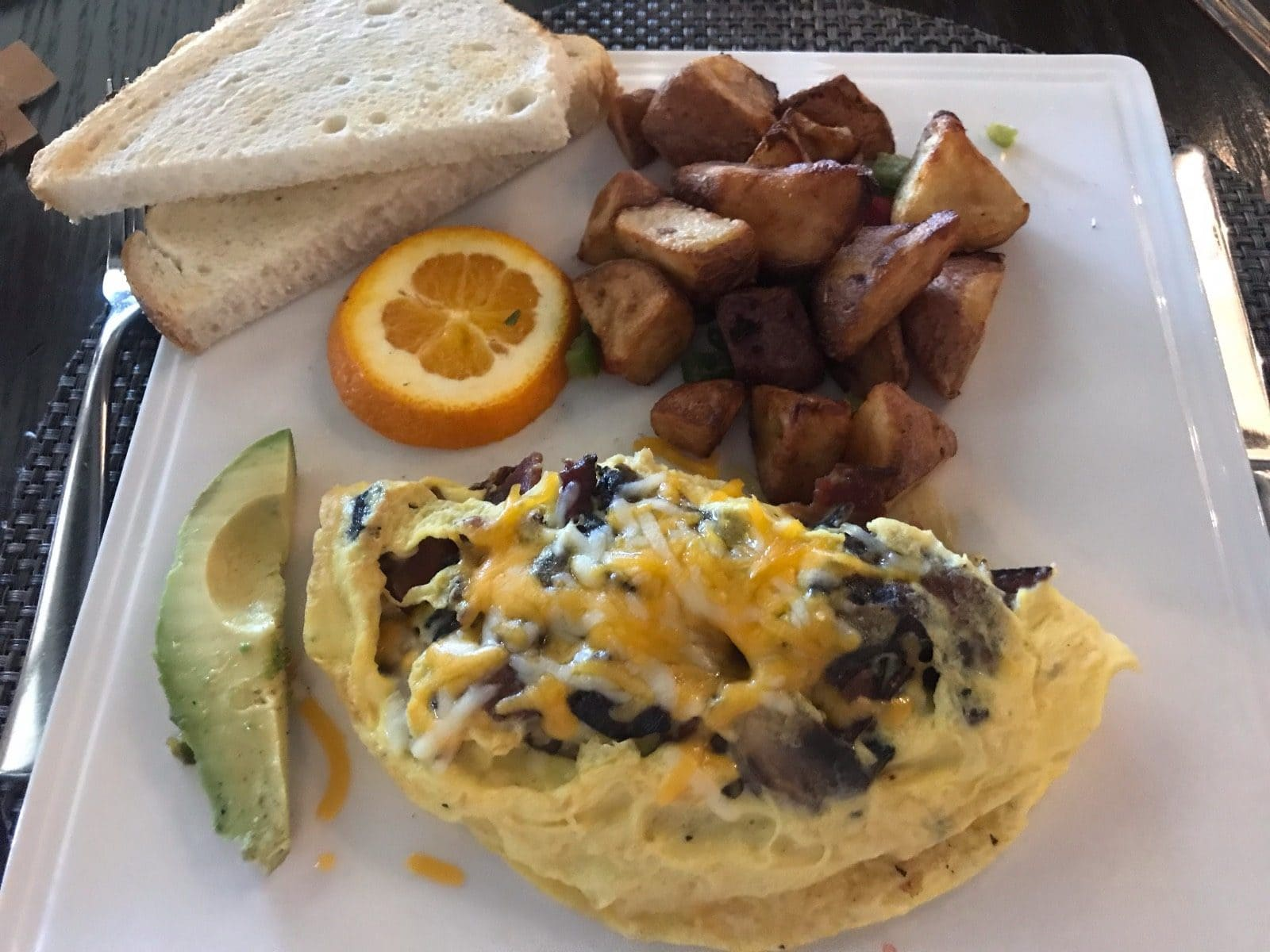 breakfast at hotel in death valley