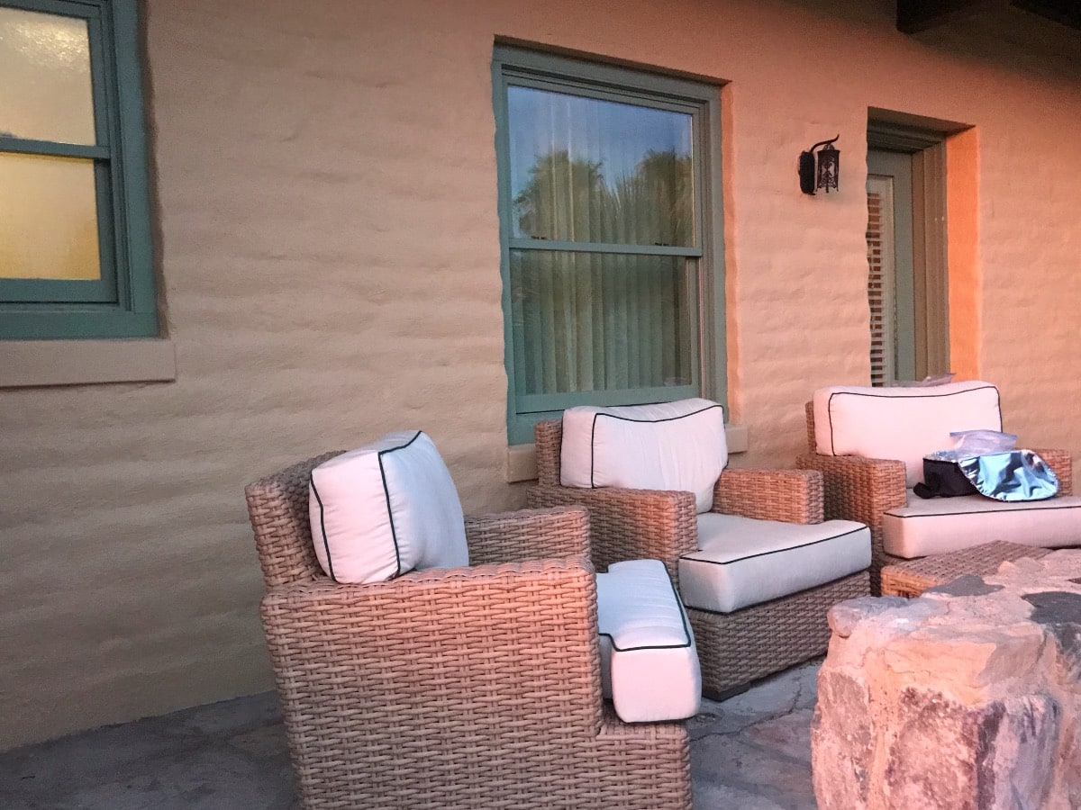 Our Patio Overlooking Death Valley