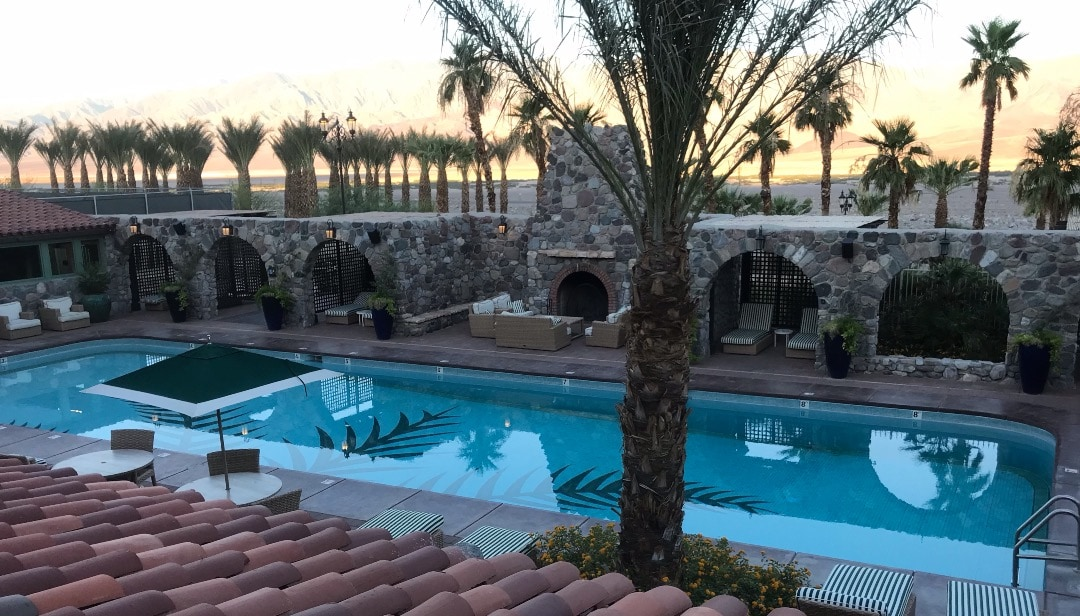Pool at hotel in Death Valley
