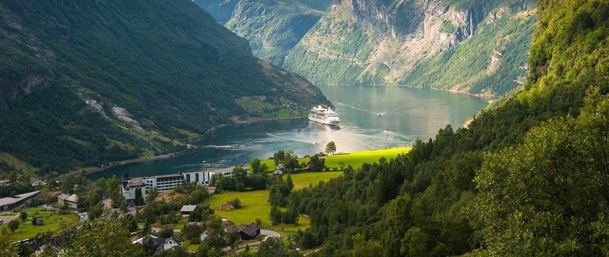 Norway with cruise ship