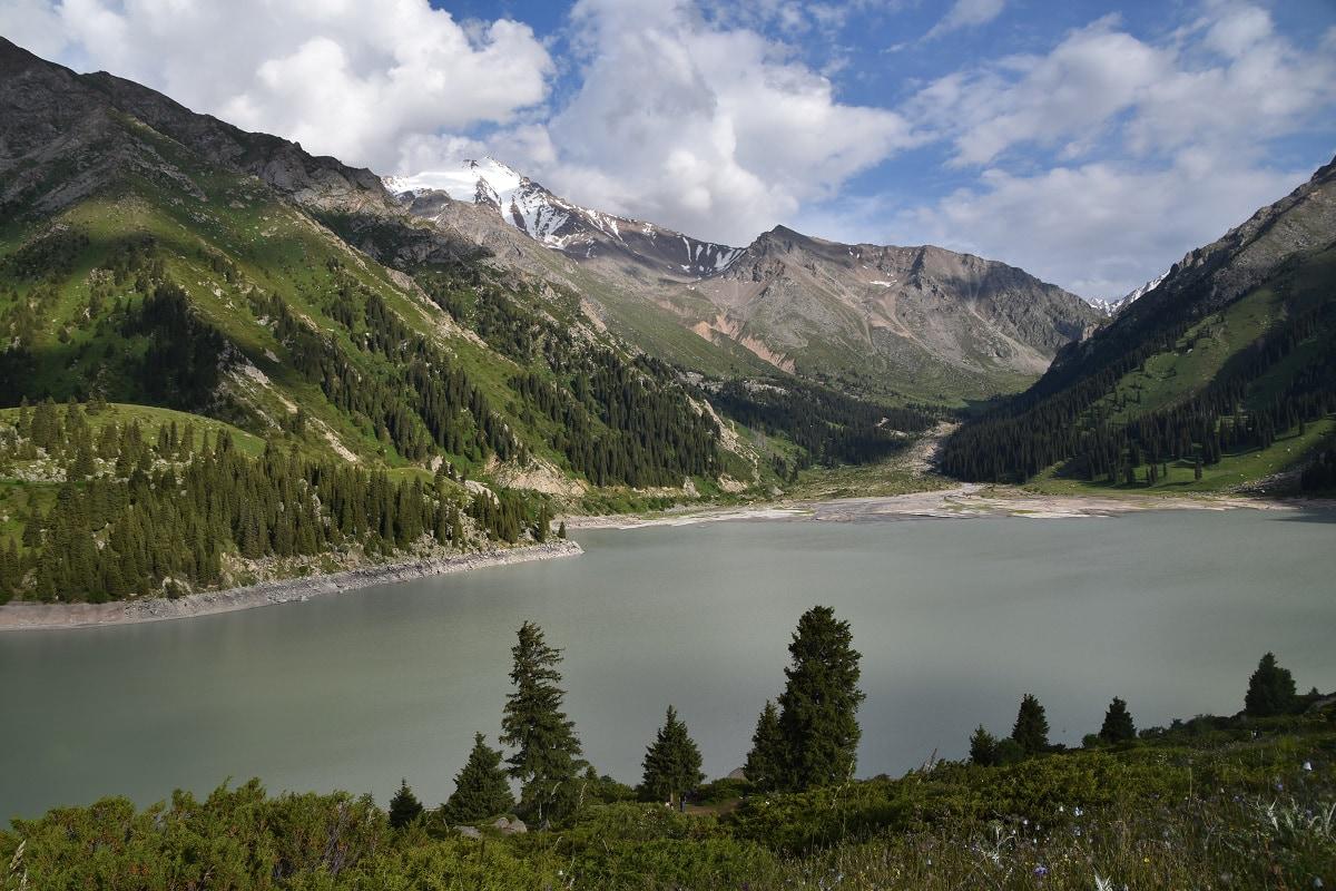 Lake in Almaty, Kazakhstan